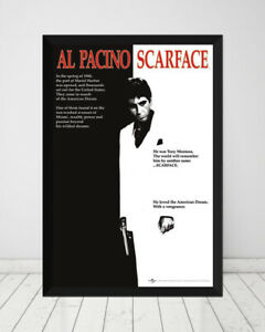 Scarface *Framed* Onesheet Large Poster (90cm x 60cm) Ready to Hang