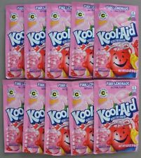 10 packets of KOOL-AID drink mix: PINK LEMONADE flavor, TEN packs, UNSWEETENED