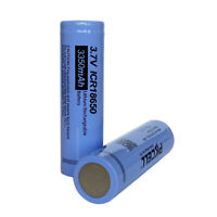 2x New Battery ICR18650 Li-ion Rechargeable Battery 3.7V  3350mAh PKCELL