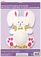 EASTER BUNNY HONEYCOMB DECORATION HANGING DECORATION PARTY SUPPLIES