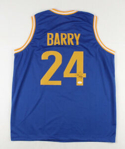 Rick Barry Signed Golden State Warriors Jersey (JSA COA) 1975 NBA Champ /Forward