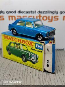 MATCHBOX Superfast No.64b MG 1100 1970 Original Vintage Diecast