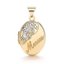 9Carat Multi-Tone Gold Locket Fine Necklaces & Pendants without Stones