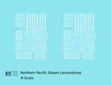 K4 N Decals Northern Pacific Steam Locomotive White