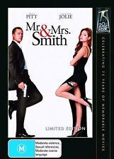 Mr & Mrs SMITH  DVD Set R4 Brad Pitt / Angelina Jolie