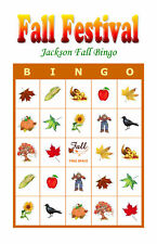 Fall Festival Holiday Party Game Activity Bingo Cards