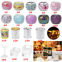 Mosaic Glass Candle Holder Cup Candlestick Votive Holder Wedding Party Decor