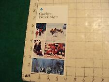 Vintage High Grade SKI BROCHURE: QUEBEC--joie de vivre; 1974