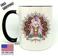 Yoga, Birthday, Christmas Gift, Black Mug 11 oz, Coffee/Tea