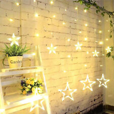 Stars Fairy String Lights Lamp for Window Christmas Decor Xmas Led Lights