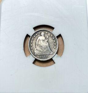 1858 Seated Liberty Half Dime - Silver - Philadelphia Mint - Seated - 1/2 Dime