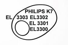 SET BELTS PHILIPS TAPE DECK K7 EL3300 EL3001 EL3302 EL3003 NEW EL 3300 3302 3303