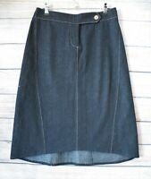 Charlie Brown Skirt A Line Circle Denim Size 10 Blue Navy Cotton