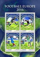 Sierra Leone 2016 MNH Euro 2016 Football 4v MS Ronaldo Gareth Bale Soccer Stamps