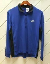 Vintage_Made In U.S.A._NIKE F.I.T. 1/4-Zip PullOver_Size L_Blue with Black Trim