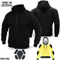 Motorcycle Kavlar Hoodie Hoody Full Protective Armour Lined Protection Fleece