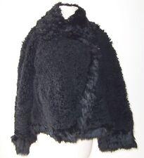 ALEXANDER MCQUEEN Black Reversible Lamb Fur Shearling Jacket Coat 42 8