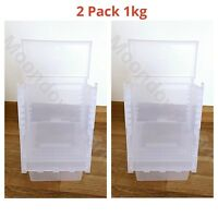 2pk 1Kg SEED HOPPER/ FEEDER PLASTIC FOR AVIARY CAGE BIRD- FINCH CANARY etc