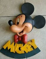 Disneyana COLLECTIBLE Mickey Mouse 3D Wall Coat Rack - resin made - RARE FIND