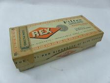 REX vecchia scatola tubetti SIGARETTE cigarette