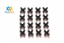 8x Lego Knob Gear Wheel Black - 32072
