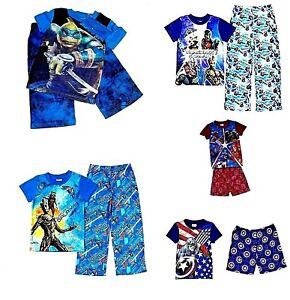 Boy's 2-Pc Pajamas Marvel Guardians of the Galaxy Avengers Captain America  NWT