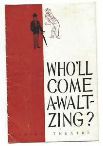 OLD PROGRAMME Comedy Theatre Melbourne  Who'll Come A-Waltzing? 1963