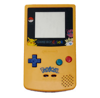Gameboy Color GBC Pokemon Pikachu Housing Shell Yellow & Blue Replacement Case