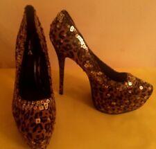 Alba Animal Print  Platform Stiletto Heels,  Women's shoes,  US sz.10