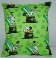 Snoopy Pillow Charlie Brown Irish Snoopy Made in USA Pot Of Gold St Patrick Day