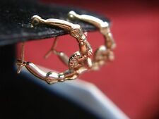 14K YELLOW GOLD CLADDAGH STYLE EARRINGS - SMALLER SIZE AND NICE
