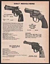 1980 COLT Diamondback, Detective Special, Lawman MK III .357 Magnum Revolver AD