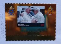 2013 St VINCENT & GRENADINES POPE FRANCIS MUSTIQUE GOLD FOIL STAMP