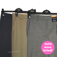 M&S Ladies Trousers Grey OR Neutral OR Slate Relaxed Straight Leg BN Marks Freya