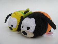 """Sef of 2 Disney store Goofy Pluto Tsum 3.5"""" mini Plush Toy"""