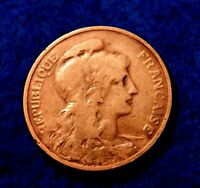 1902 France 5 Centimes - Nice Coin - Tougher Year - See PICS