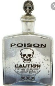 Silver Poison Bottle Ornament TkMaxx Homesense Halloween Goth