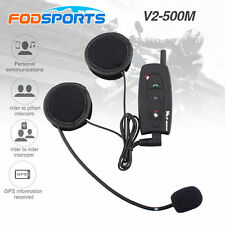 Rechargeable 500M BT Bluetooth Interphone moto Casque de moto Casque Intercom