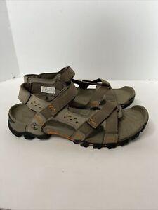 TIMBERLAND Eldridge Size 10 Mens Leather Grey Sandals 5824A