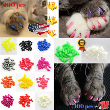Cat Nail Caps Claw Small Size Soft 100PCS And 5Pcs Adhesive Glue for CATS PAWS