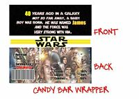 Star Wars Candy Bar Wrappers, Party Supplies, Star Wars, Invitation, Birthday