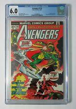 1973 Marvel Avengers 116 CGC 6.0:Scarlet Witch,Vision vs Defenders Silver Surfer
