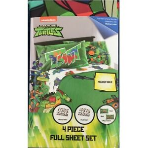 Nickelodeon Rise of the Teenage Mutant Ninja Turtles Full Size 4 Piece Sheet Set