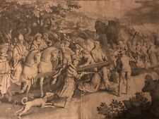 Nicolaes De Bruyn Original Old Master Engraving Detailing The Passion of Christ