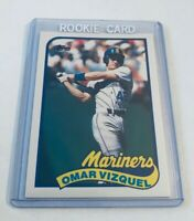 B5,838 -  1989 Topps Traded #122T Omar Vizquel Rookie Mariners Indians