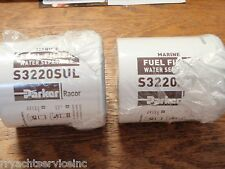 FUEL FILTER RACOR GAS 62 S3220SUL PAIR FILTERS MERCRUISER I/O INBOARD 2 MICRON