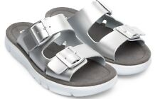 Camper Aruga Sandals, Silver Leather, Adjustable Buckles, Wm Sz 41