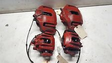 2004-2010 BMW 645 CI E63 E64 LH RH BRAKE CALIPERS SET ALL 4 RED WITH PADS OEM
