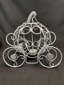 Balentine Metal Pumpkin Carriage Cinderella Fairy Tale Votive Candle Centerpiece