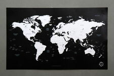 Paper World Map Decorative Posters & Prints